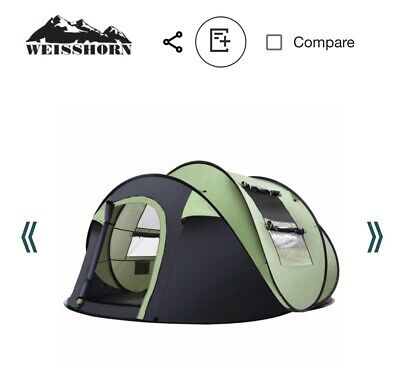 AU70 • Buy Weisshorn Instant Up Camping Tent 4-5 Person Pop Up Tents Family Hiking Beach Do