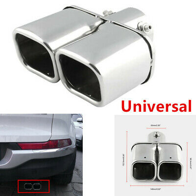 $ CDN23.92 • Buy Solid Steel Dual Auto Exhaust Tip Square Tail Pipe Muffler Trim Universal Parts
