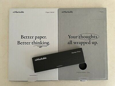 AU99 • Buy ReMarkable 2 Tablet EXCELLENT CONDITION - Grey Polymer Sleeve And Marker Plus
