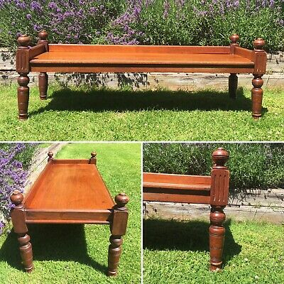 £175 • Buy Window Seat / Hall Bench / Side Table 19th Century Antique Mahogany 3/4 Gallery