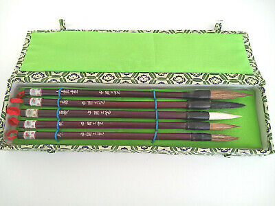 £14.95 • Buy Chinese 5 Brush Caligraphy Set. Brand New And Unused. Free Postage.