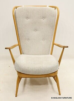 £457 • Buy Ercol Evergreen Armchair Button Upholstery Light/Blonde FREE UK Delivery