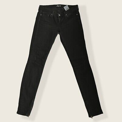 £20 • Buy Levis Jeans Womens W30 L32 Vintage Ankle Zips Black Very Good Condition