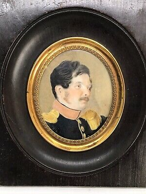 $346.20 • Buy Fine Early 19th Century Portrait Miniature Painting French Military Officer