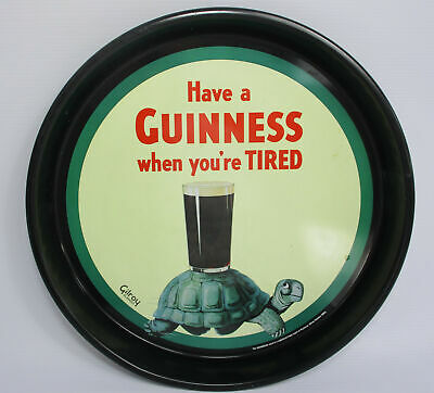 £18.50 • Buy Gilroy Classics Black Metal Guinness Beer Advertising Bar Tray With Tortoise