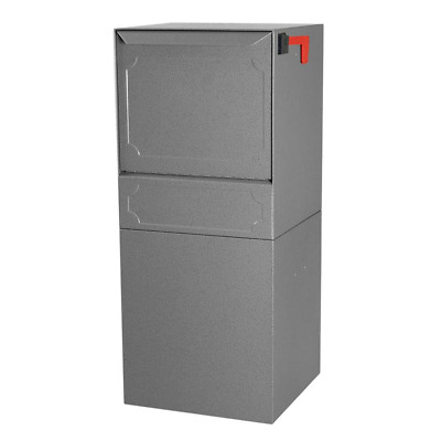 $640.90 • Buy Parcel Drop Box 34 In. H Outgoing Mail Indicator Locking Galvanized Steel Gray