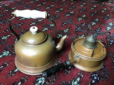 £9.50 • Buy Vintage Copper Spirit Kettle With Stand And Burner