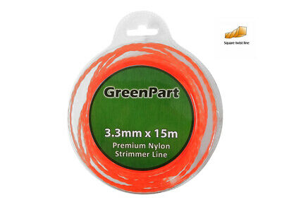 £5.99 • Buy HEAVY DUTY TWISTED STRIMMER LINE 3.3mm X 15M FOR PETROL STRIMMERS WIRE CORD