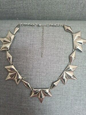 £5.99 • Buy Oasis Silver Tone Necklace Spikey Punk Style. Costume Jewellery.