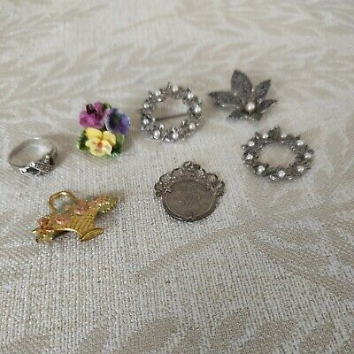 $ CDN6.91 • Buy Vintage Jewelry Job Lot Of 7 Items. Including Silver.
