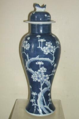 £39.99 • Buy Chinese Blue And White Prunus Jar Vase And Cover