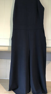 £4 • Buy WAL G Navy Blue Jumpsuit With Pockets Size S 8/10.