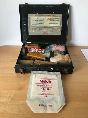 £7 • Buy Vintage First Aid Kit Case Box With Contents Stenhouse Equip Co