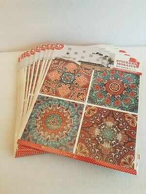 £3 • Buy Mosiac Tile Stickers -15 Packets - 4 Stickers Per Pack (60 Total) - 4 Designs
