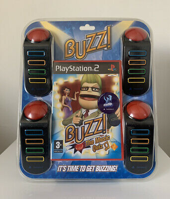 £29.49 • Buy Buzz! The Music Quiz - PlayStation 2 PS2 Game + 4 Buzzers - Brand New & Sealed