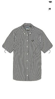 £50 • Buy Fred Perry Reissues Check Gingham Short Sleeve Ladies Shirt Mod Skin Girl New 12