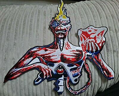£5 • Buy Iron Maiden PATCH Seventh Son Backpatch HUGE 14  Embroidered Eddie Figure New