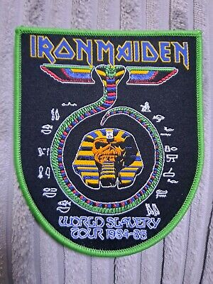 £7 • Buy Iron Maiden Powerslave PATCH World Slavery Tour Limited Edition Woven Sew On NEW