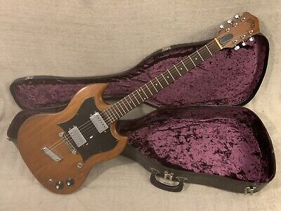 $ CDN1887.02 • Buy 1972 Guild S-90 Solid Body Electric Guitar Natural Mahogany USA SG Style + Case