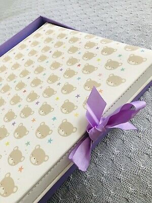 £5 • Buy Traditional Photo Album 60 Acid Free Pages,Teddy Star Baby/Birthday NEW Gift Box