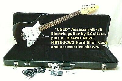 $ CDN239.18 • Buy Assassin Electric Guitar, USED GE39 BGuitars, With NEW MBTEGCW1 Hard Shell CASE