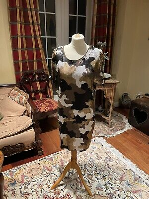 £12 • Buy Michael Kors Sequin Camouflage Dress  Size Small