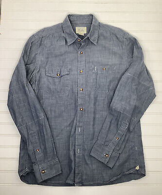 $20 • Buy Koto Shirt Urban Outfitters Button Up Blue Chambray L/S Mens M