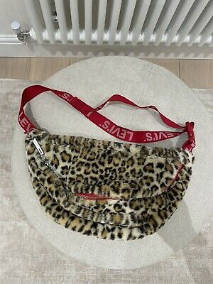 £35 • Buy Levi's Leopard Print Fluffy Large Bum Bag With Red Straps