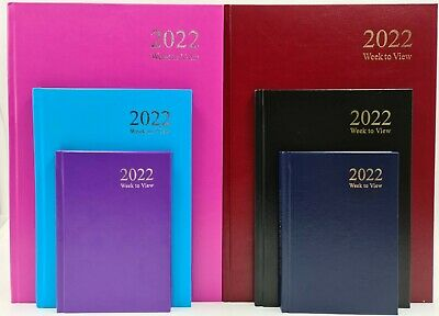 £1.99 • Buy 2022 A4 A5 A6 Day To Page / Week To View Diary Full Year Planner Hardback T