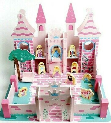 £29.99 • Buy New Girls Wooden Princess & Castle Set Dolls House Personalised