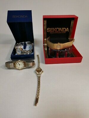 £6.99 • Buy 4 Sekonda Wrist Watches Spares Repairs Only Job Lot Untested - LOT3