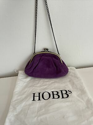 £10 • Buy Hobbs Purple Clutch Purse Bag With Chain And Dust Bag Used