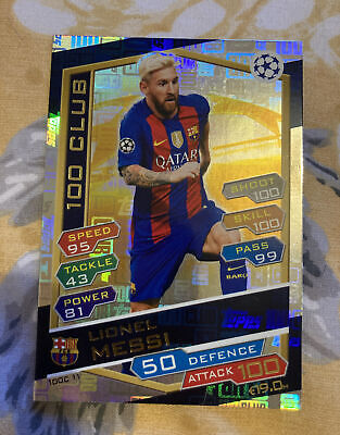 £1.99 • Buy Match Attax 2016-17 Lionel Messi 100 Club Barcelona Trading Card Free Postage
