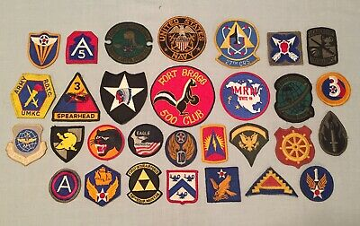 $39.95 • Buy Vintage Mixed Lot Of 30 Military Patches US Army Navy Airborne Insignia & MORE