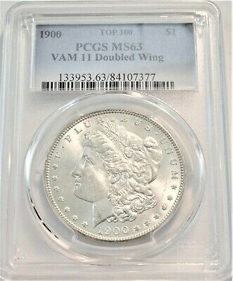 $3.25 • Buy 1900 $1 PCGS MS 63 Morgan Silver Dollar Top 100 VAM 11 Doubled Wing Uncirculated