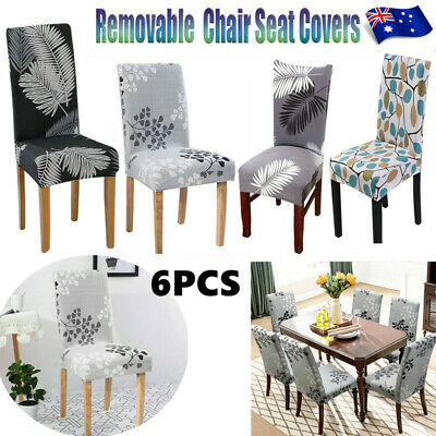 AU7.99 • Buy Dining Chair Seat Covers Slip Stretch Wedding Banquet Party Removable AU STOCK