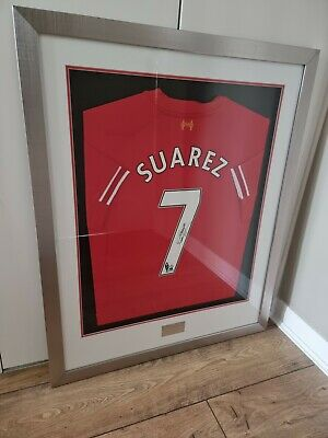 £499 • Buy Luis Suarez LFC 2013/14 Signed Framed Shirt - Footballer Of The Year