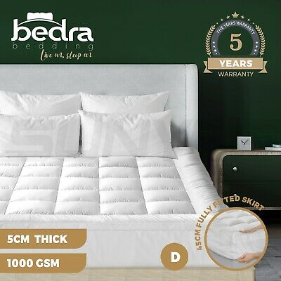 AU59.90 • Buy Bedra Bedding Luxury Pillowtop Mattress Topper Mat Pad Protector Cover Double
