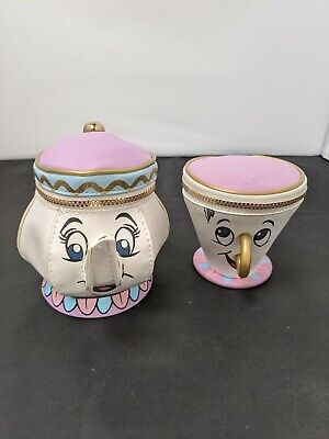 £3.33 • Buy Pair Of Mrs Potts And Chip Coin Purses Disney Beauty And The Beast #SH-fc24
