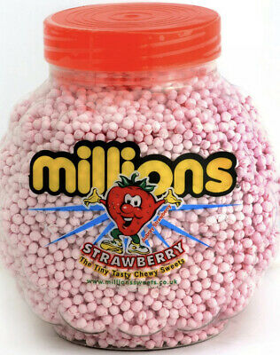 £19.98 • Buy Millions Strawberry Flavour Full Sweets Jar 2.27kg