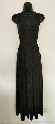 £6.99 • Buy Bnwt Ladies Urban Outfitters Black, Silver Strappy Wide Leg Jumpsuit. Small