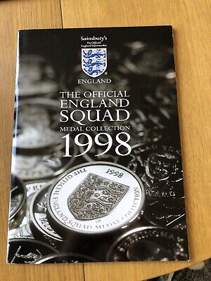 £3 • Buy 2x The Official England Squad World Cup Medal Coins Collection 1998 - Sainsburys