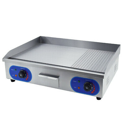 £185 • Buy Commercial Electric Griddle Bacon Countertop Large Hotplate 2/3Flat +1/3 Grooved