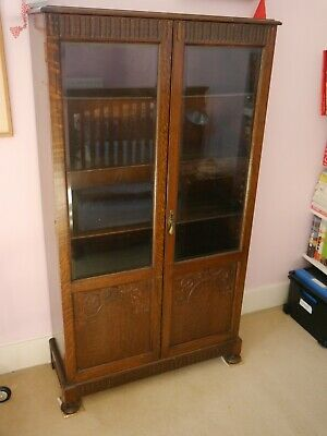 £120 • Buy Antique Edwardian Glass-fronted Bookcase