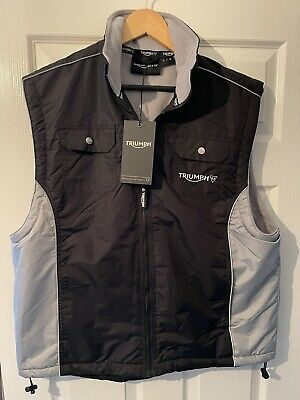 £49.99 • Buy Triumph Works Clothing Men's Team Gilet Size L Fleece Lined - Brand New Rare