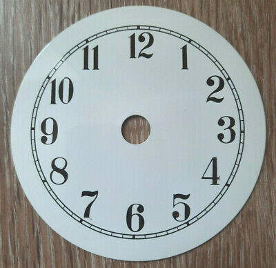£11.95 • Buy NEW - 3.5 Inch Clock Dial Face - White Finish 90mm - Arabic Numerals - DL09