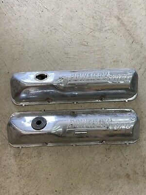$100 • Buy Original OEM Powered By Ford 390GT 428 Cobra Jet Mustang Chrome Valve Covers