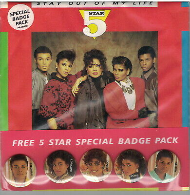 £1.29 • Buy 5 Star - Stay Out Of My Life + Badge Pack - 1987 UK 7  45rpm MINT Sealed