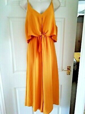 £8 • Buy Mustard Over Bodice Dressy Jump Suit From NEW LOOK SIZE 12 IN NEW CONDITION