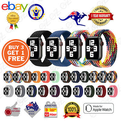 AU9.85 • Buy For Apple Watch Band Series 6543SE Nylon Braided Fabric IWatch Strap 38 40 42 44